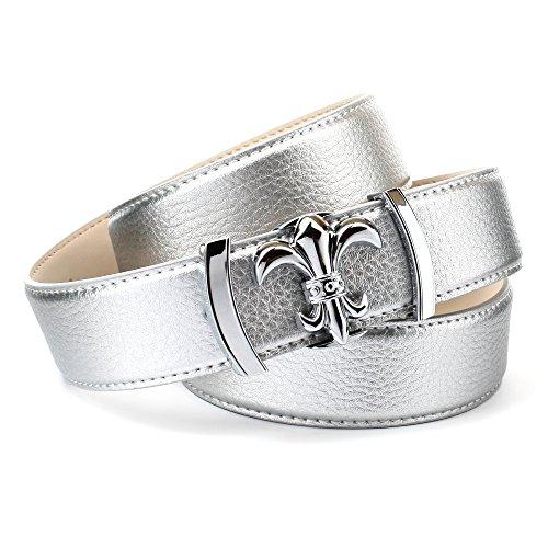 Anthoni Crown Damen 1ALTS Gürtel, Silber (Silber 101), 85