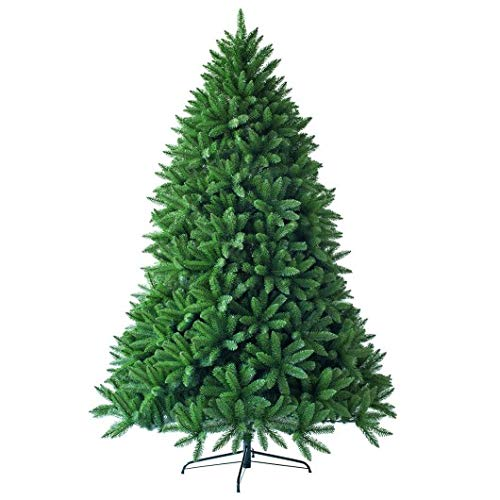Homeura 6 Ft Unlit Artificial Christmas Trees with 1250 Branch Tips, Premium Spruce Artificial Holiday Christmas Trees for Home - Green