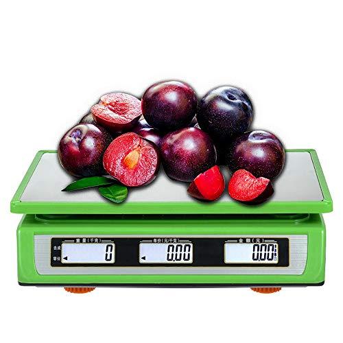 ZYHA Bascula frutera,Conteo de Escalas Escala electrónica Digital Balanzas industriales 30 kg / 1 g,Tamaño del Producto 33.2 * 33 * 11cmm