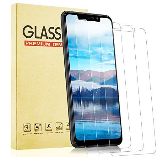 Lixuve Cristal Templado para Xiaomi Redmi Note 6 Pro, [Dureza 9H] [Sin Burbujas] [Anti-Arañazos] [3 Unidades] Protector de Pantalla para Xiaomi Redmi Note 6 Pro