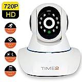 IP Cámara WIFI Videovigilancia para Seguridad – Cámara Vigilancia HD con Visión Nocturna Infrarroja, Detección de Movimientos & Sonido, Micrófono y Altavoz, Alertas Móviles y E-mail, Micro SD