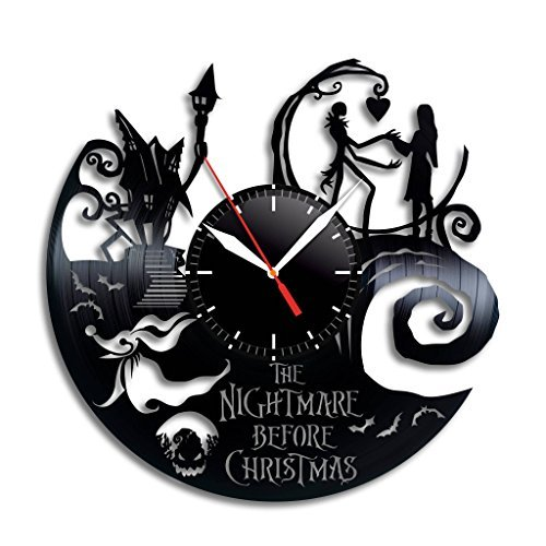 Nightmare Before Christmas Vinyl Wall Clock, Nightmare Before Christmas Nice Home Decor, Nightmare Before Christmas Best Gift idea