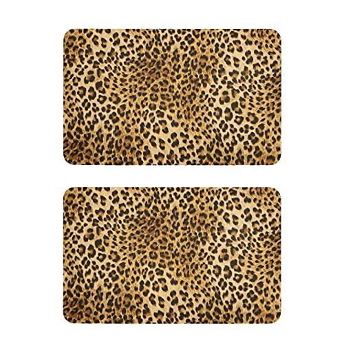 Hunihuni - Imán para nevera, diseño de leopardo, diseño de pantera de leopardo, para el hogar, cocina, armario, oficina, pizarra, juego de 2