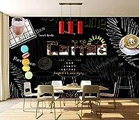 写真の壁紙人格黒板リーフカフェツーリング背景壁リビングルームの壁の芸術の壁の装飾の家の装飾のための大きな壁壁画シリーズの壁紙-196.8x118.1inch/500cmx300cm