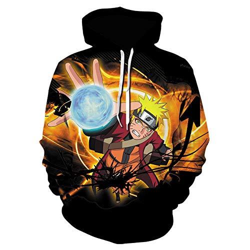 Naruto Moda Sudaderas Streetwear Streetwear Itachi Pullover Sudadera Hombres/Mujeres Ropa Moda Hip Hop Hoodie-Caricaturas_2XL