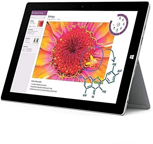Microsoft Surface 3 10.8' FHD Full HD(1920x1280) Touchscreen 2-in-1 Education and Business Laptop Tablet (Intel Quad-Core Atom x7-Z8700, 4GB RAM, 64GB SSD) Mini DP, WiFi AC, Webcam, Windows 10 Pro