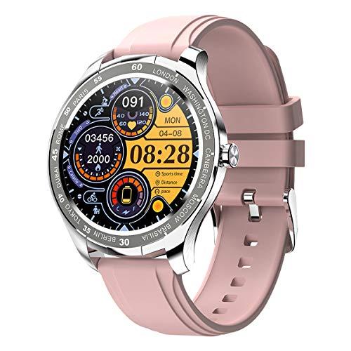 PADGENE Smartwatch, Smartwatch für Männer mit Herzfrequenzmesser, Kalorien, Schlafmonitor, Stoppuhren, Schrittzähler, Activity Tracker für Android/iOS (Pink)