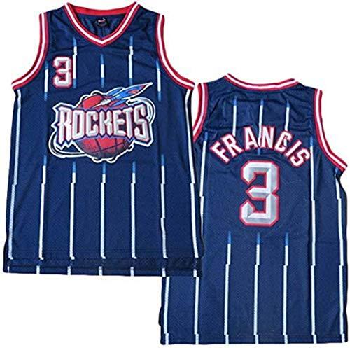 ATI-HSKJ Jersey di Pallacanestro NBA, Houston Rockets Steve Francis # 3 Maglie Swingman Tessuto Traspirante Tessuto Fresco Abbigliamento Serbatoio,L(175~180cm/75~85kg)