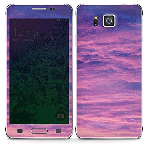 DeinDesign Samsung Galaxy S7 Folie Skin Sticker aus Vinyl-Folie Aufkleber Lila Violett Purple