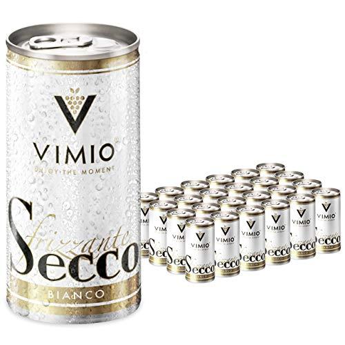 24 x Vimio Secco Frizzante Bianco Perlwein Weiß 10,5% vol. 200 ml Dose