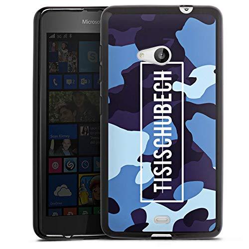 DeinDesign Silikon Hülle kompatibel mit Microsoft Lumia 535 Hülle schwarz Handyhülle Tisi Schubech Camouflage YouTube