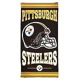 NFL Pittsburgh Steelers Fiber Beach Towel, 30 x 60-Inch