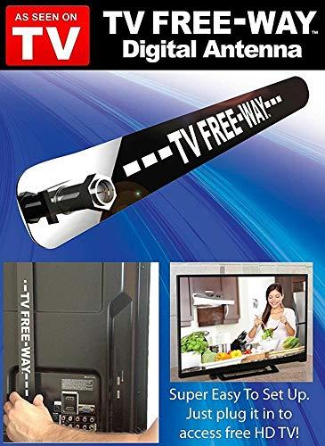 JMRoo TV Freeway TV Free-Way Antenna Digital TV Antenna HD Digital Indoor TV Antenna as Seen on TV