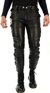 Bockle® 1991 lace-up Leather Pants Leatherjeans Men Pants Leather Jeans New