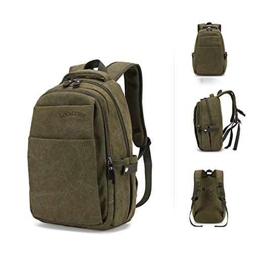 SINCERE@ Les étudiants sacs à double sac à bandoulière homme sac à dos sac école sac de sport mode masculine (Army Green)