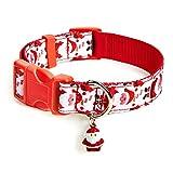 Doudounes Weihnachten Jingle Halsbänder für Hunde und Katzen (Weihnachten Mann, L)
