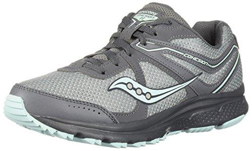 Saucony Women's Grid Cohesion TR11 Sneaker, Grey/Mint, 090 M US