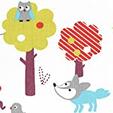 Baumwollstoff / Kinderstoff | Welt der Wildtiere Stoff