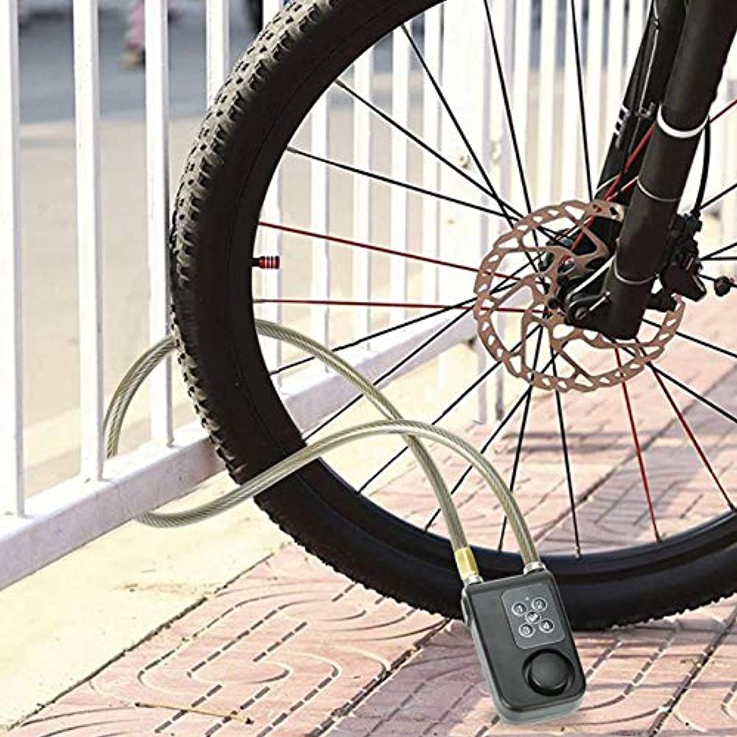 Wireless Alarm Lock Remote Control Bicycle Chain Lock Electric Bike Motorcycle Locker Code Steel Cable Chain Lock Y787R