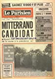 PARISIEN LIBERE (LE) [No 11240] du 10/11/1980 - BONJOUR LA CHANCE GAGNEZ 10000F ET PLUS - LE...