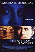 DON'T SAY A WORD (2001) Original Authentic Movie Poster 27x40 - Double-Sided - Michael Douglas - Sean Bean - Brittany Murphy - Skye McCole Bartusiak