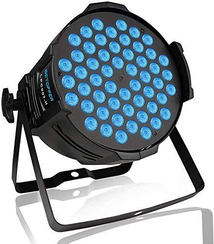 Luce notturna 54x3W RGB Par DJ Light LED Stage Strobe Lights 3/7 CH DMX 512 Discoteca Illuminazione Downlight per Halloween Natale Casa Festa Chiesa Eventi Gigs ecc.