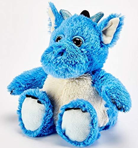 warmies - Peluche a Forma di Drago Blu, Completamente riscaldabile in microonde