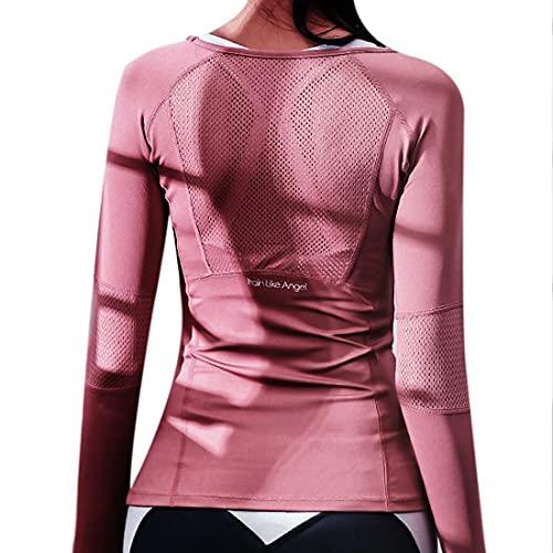 HMOS Traje Desgaste de los Deportes for Mujer for la Fitness Que Corre Jogging sin Costura Manga Larga...