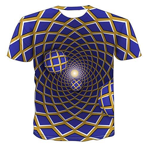 SSBZYES Herren T-Shirt Herren Kurzarm T-Shirt Herren Casual T-Shirt Bedrucktes T-Shirt 3D Personality Design Geometrisch bedrucktes T-Shirt Fashion Top