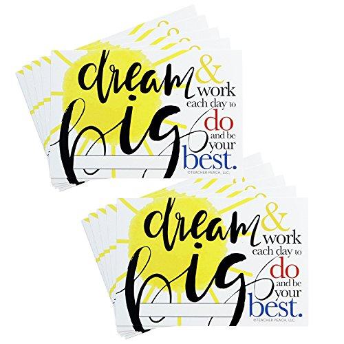 Positive Postcards from Teachers to Students, 50 Cards, Motivational Notes from Teachers, Classroom Teaching Supplies for Preschool, Kindergarten, and Elementary School Teachers (Dream Big)
