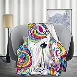 Rainbow Unicorn Fleece Throw Blankets for Kids, Boy, Girl, Baby, Newborn, Child Gift 30X40 Inch, Cartoon - Fuzzy Warm Cozy Soft Thick Plush Weighted Blanket