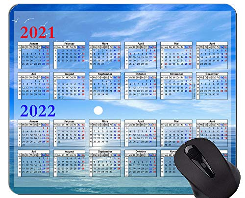 2021-2022 Kalender Anti-Fray Cloth Gaming Mauspad, Mysterious Sky Themed rutschfeste Gummibasis Mousepad