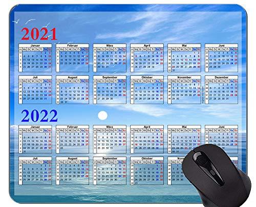 2021-2022 Kalender Anti-Fray Cloth Gaming Mauspad, Mysterious Sky Themed rutschfeste Gummibasis Mousepad