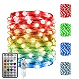 Vanthylit Fairy Lights USB Color Changing String Lights, 100 RGB Led Twinkle Lights with Remote Control Fairy String Lights for Party Wedding Festival Bedroom Dorm Table Decoration