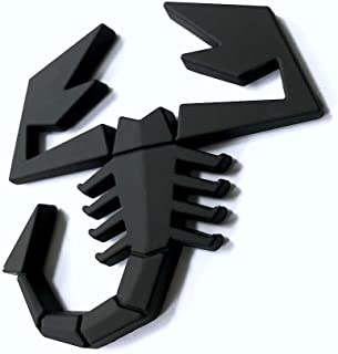3D Chrome Scorpion Sticker Decal Auto Car Emblem Decal Decoration (Black)