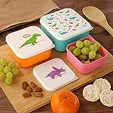Set de 3 loncheras con dinosaurios / loncheras de desayuno niños/jóvenes (colegio/jardín de...