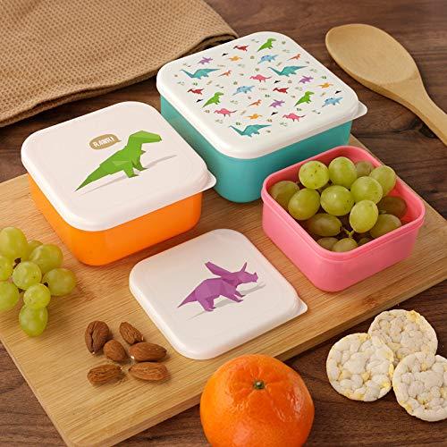 Dinosaurier-Brotdosen 3er Set / Frühstücks-Box für Kinder/ Jungen (Schule/ Kindergarten)