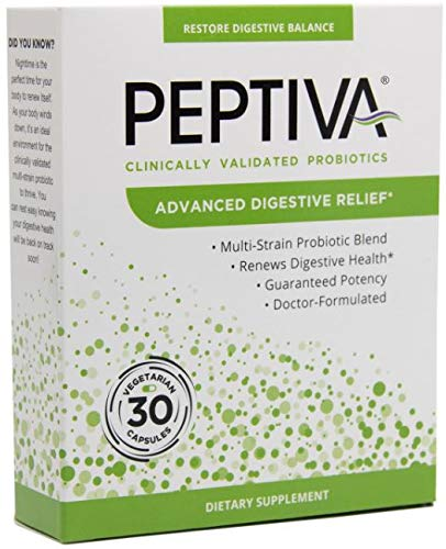 Peptiva Advanced 50 Billion CFU Probiotic - Digestive Relief - Clinically Validated, Premium Probiotic