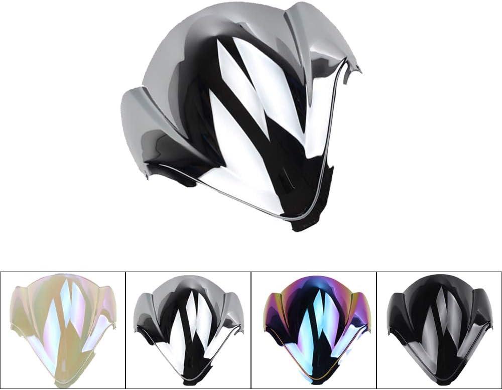 Worldmotop Motorcycle Windscreen Windshield Compatible with Suzuki Hayabusa GSX 1300R GSX-R 1300 GSXR1300 2008-2018,PC Windscreen Wind Shield black