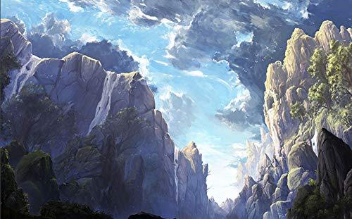 SKTYEE Nature Fog Mountain Cloud Papel tapiz de pared 3d para la...