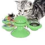 Nincee Katze Interaktion Spinner Spielzeug, Mit LED-Blitzlicht und Katzenminze Kreativer...