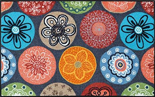 wash+dry Fußmatte, Coralis 75x120 cm, innen und außen, waschbar, Mehrfarbig