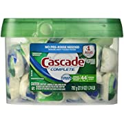 Cascade Complete All-in-1 ActionPacs Dishwasher Detergent, Fresh Scent 42 Count