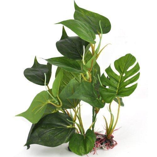 Binnan 20 cm Plante d'aquarium Artificielle de d'aspect Réaliste Ornement pour Vert Deco Aquarium