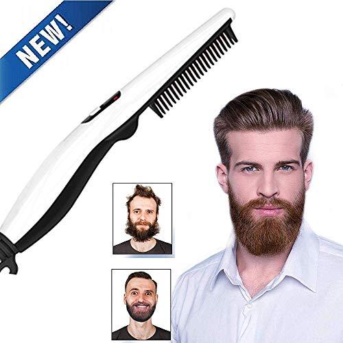 Plancha Barba Multifuncional Cepillo alisador con Cepillo Caliente Anti escaldadura Anti estática Cero dao