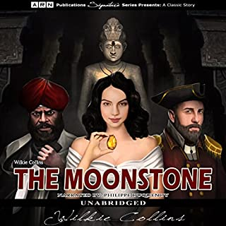 The Moonstone                   By:                                                                                                                                 Wilkie Collins                               Narrated by:                                                                                                                                 Philippe Duquenoy                      Length: 18 hrs and 42 mins     24 ratings     Overall 4.4
