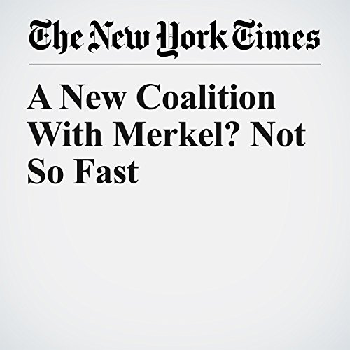 A New Coalition With Merkel? Not So Fast copertina