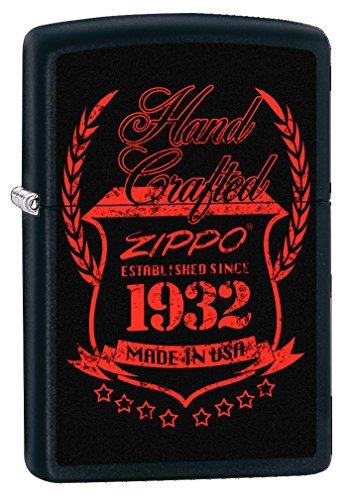 Zippo Vintage Mechero, Metal, Black Matte, 3.5x1x5.5 cm