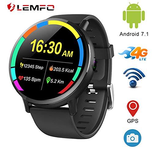 Lemfo Lemx – Android 7.1 4 G LTE 2.03' schermo orologio intelligenti, MT6739 1 GB + 16GB 8 MP Camera, Translator, GPS, Wifi, cardiofrequenzimetro, modalità Multi sport Smartwatch Phone per uomo donna