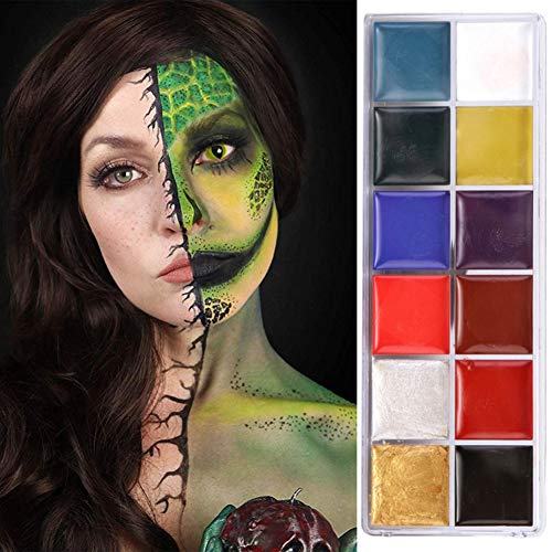 ARTIFUN 12 colores Crema de pintura corporal No tóxico Inofensivo Soluble en agua Body Painting Party Makeup Palette
